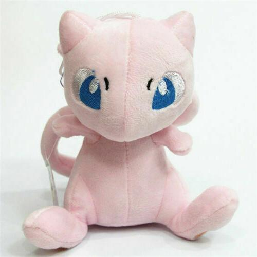 pokemon mew pink cat plush toy soft