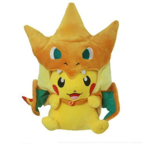 pokemon pikachu mega charizard stuffed animals plush