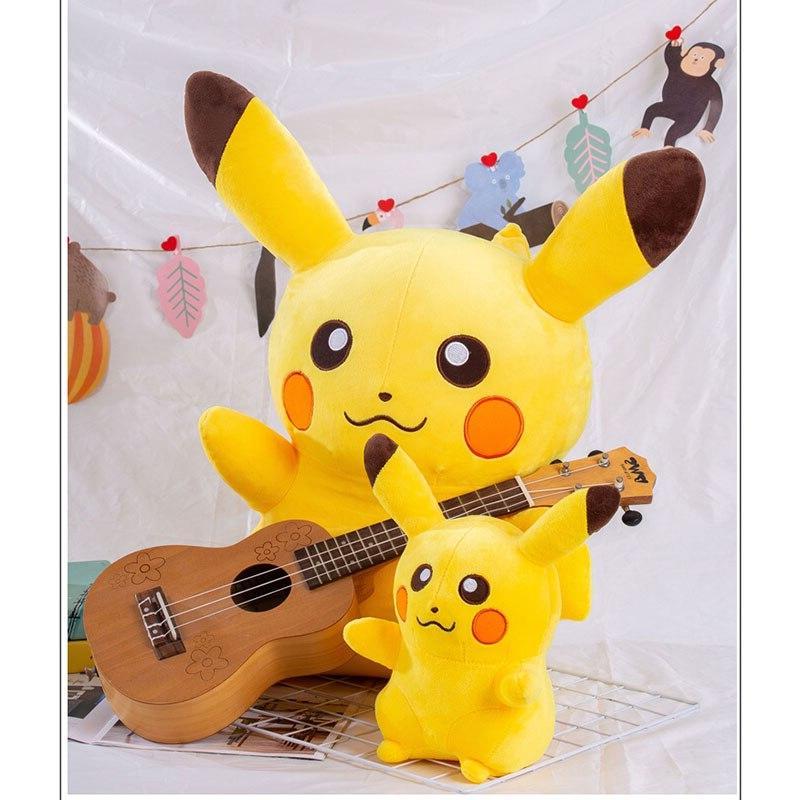 Takara Tomy Pikachu Plush Toy <font><b>Animals</b></font> <font><b>Pokémon</b></font> <font><b>Stuffed</b></font> Pillow Kids Birthday