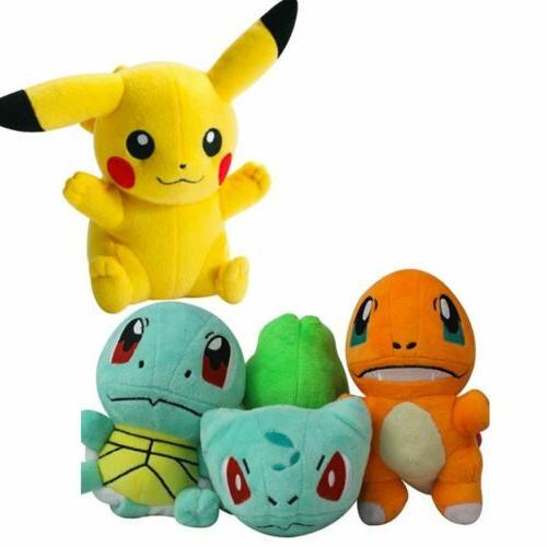 Pokemon Stuffed Animal Pikachu Squirtle Gift