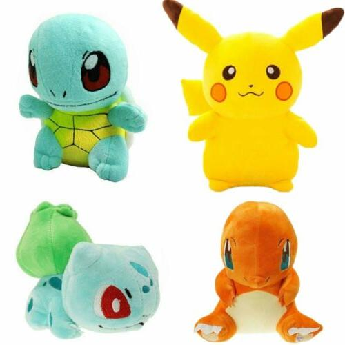 pokemon plush pikachu bulbasaur squirtle charmander kids