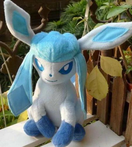 pokemon seated glaceon eevee evolution plush stuffed