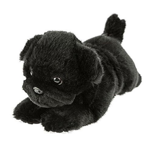 pug dog lying stuffed animal