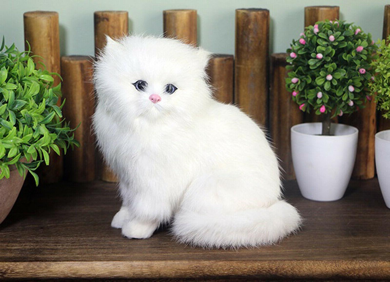 Realistic Cat Plush, And Stuffed Animal Doll Gift