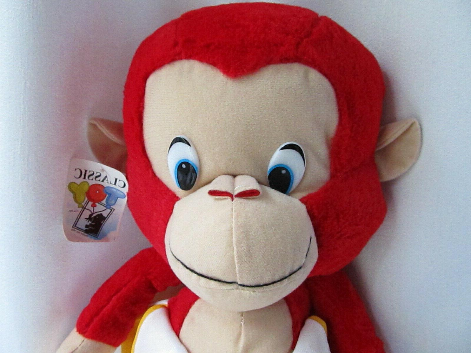"Classic Toy Red Monkey Banana Plush 21"" w/tag Toy"