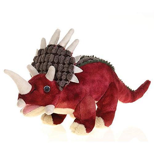 red triceratops dinosaur plush stuffed
