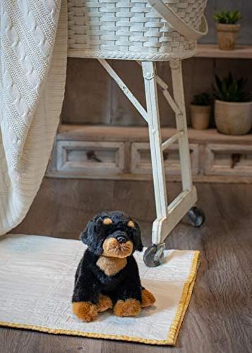 Nat Small Rottweiler Dog Plush Stuffed