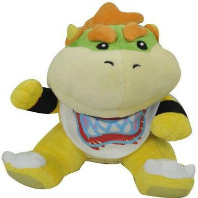 """Super Bowser Jr Baby Toy Stuffed 6"""" US Stock"""