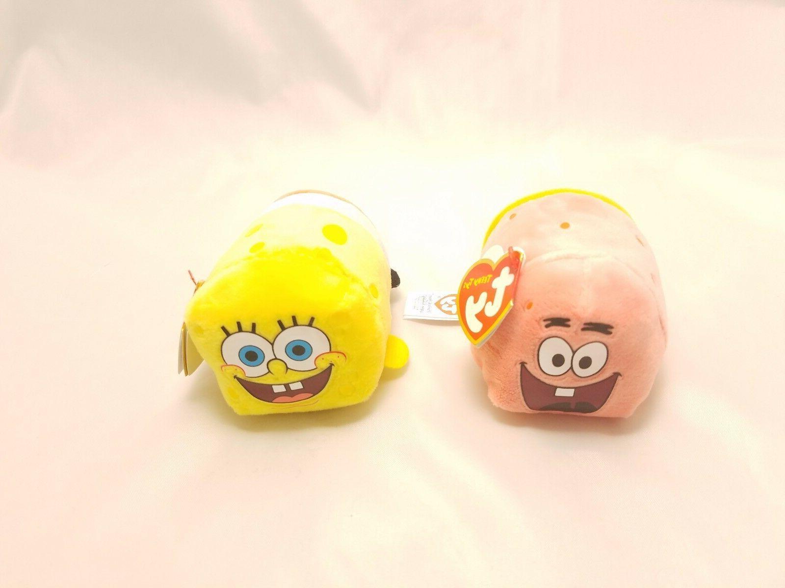 set of 2 spongebob and patrick teeny