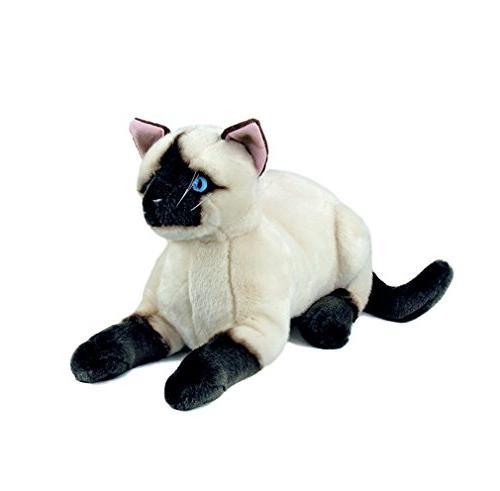 02039d06847c Bocchetta Plush Toys Siamese Sealpoint Cat/Kitten Crouching Soft