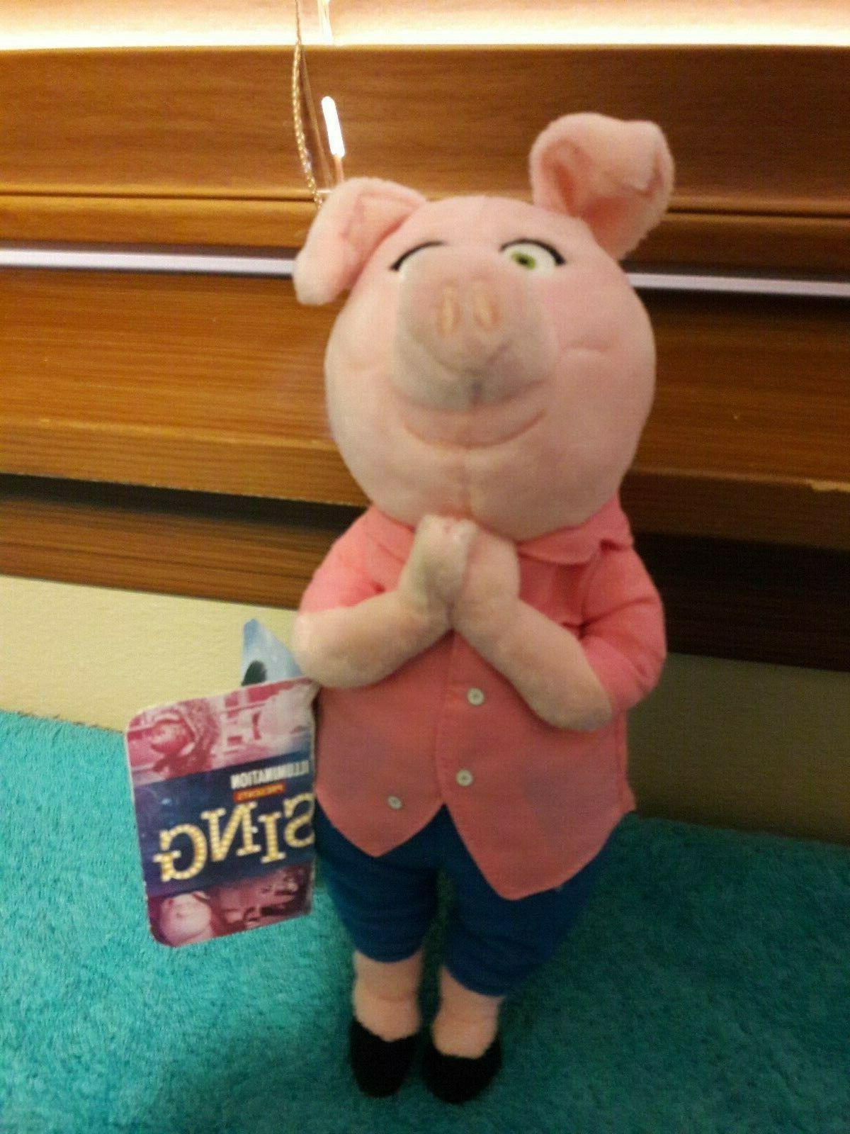 sing rosita pig 8 plush presents nwt