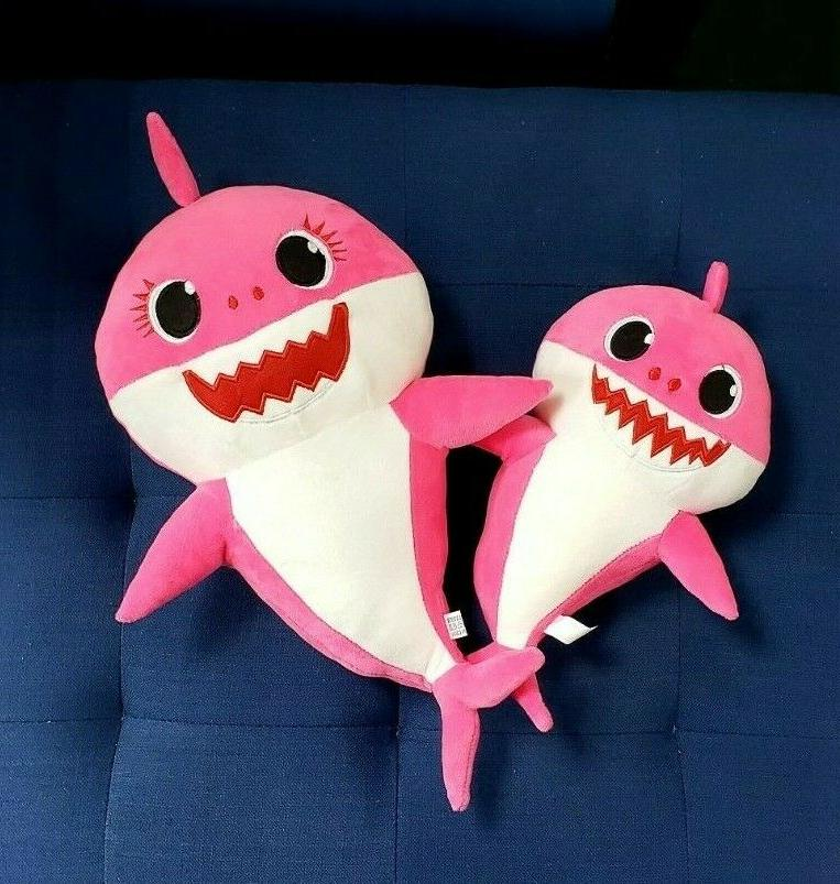 Baby singing toy animal with shark and light