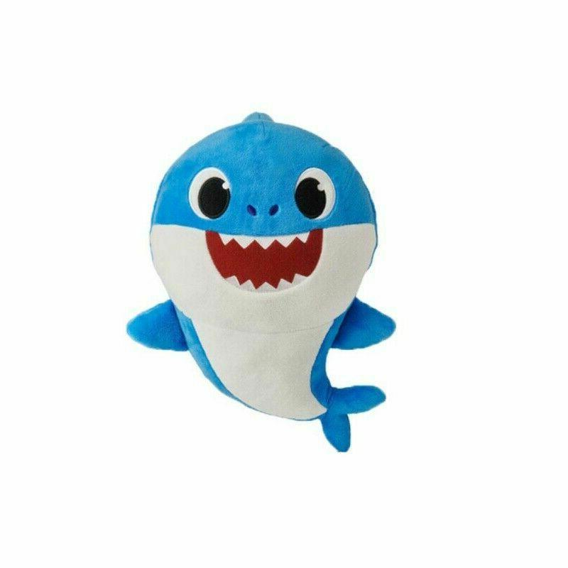 Baby shark toy animal with shark and light