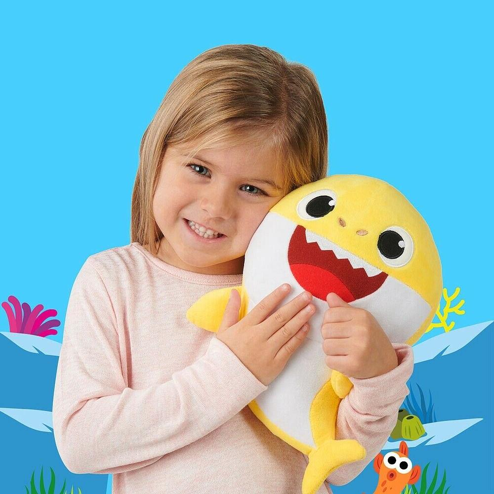 Baby singing plush toy with baby shark song light