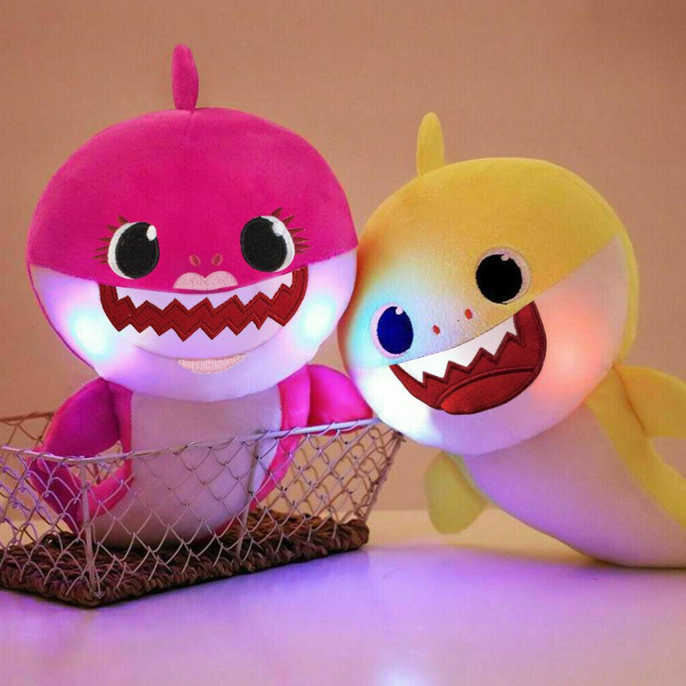 Baby shark plush toy shark light