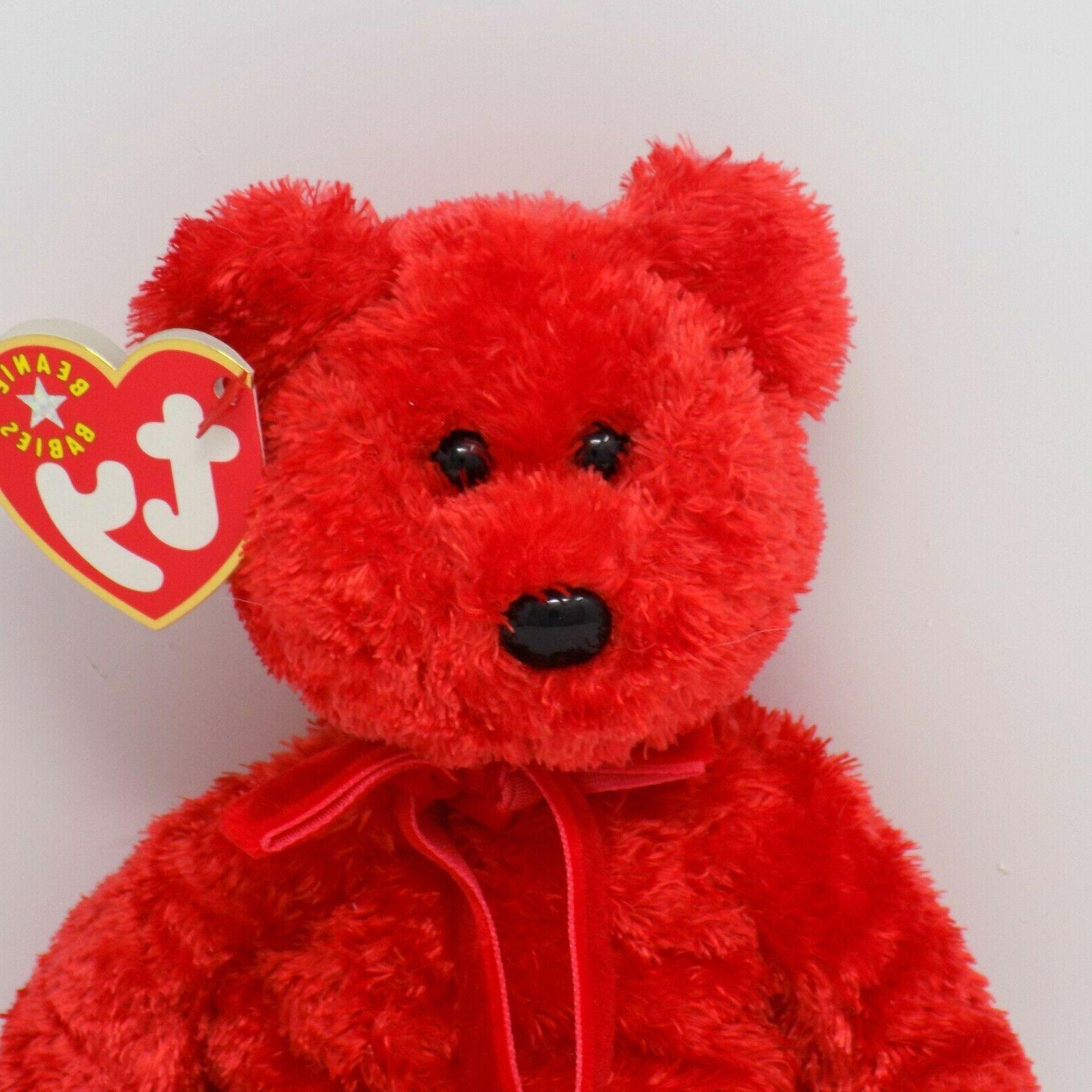 Ty Sizzle Bear Beanie Baby Babies Stuffed Animal MWMT