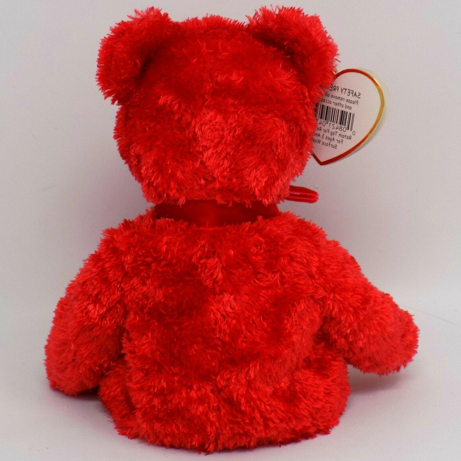 Ty Sizzle Red Bear Baby Babies Stuffed Plush Toy MWMT