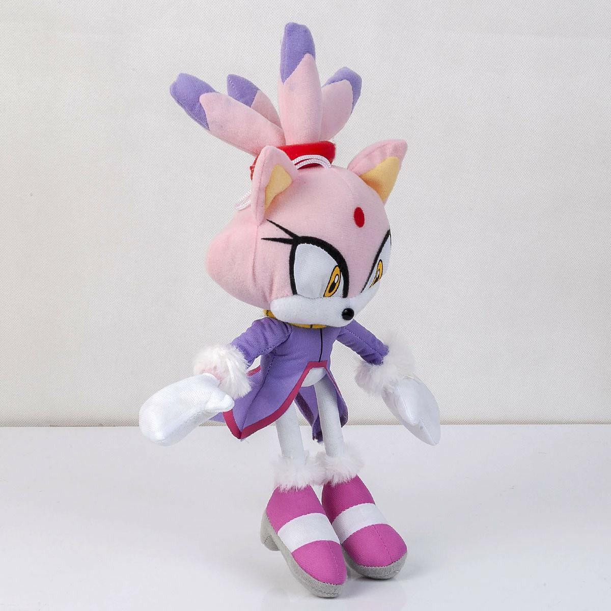 Sonic The Blaze the Cat Plush Toy Stuffed Anime Doll