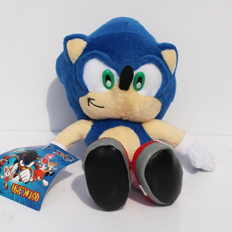 Sonic The Blue Tails Plush Stuffed Figure Toy Xmas Gift