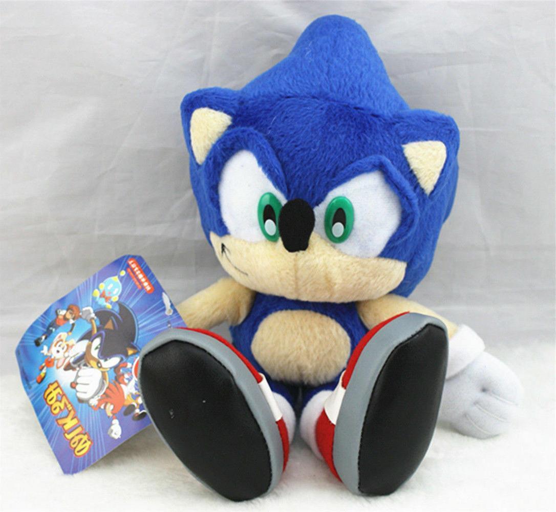 Sonic The Hedgehog Blue Tails Plush Doll Stuffed Figure Toy