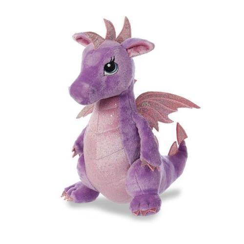 "Aurora Sparkle Larkspur Dragon 12"" Plush"
