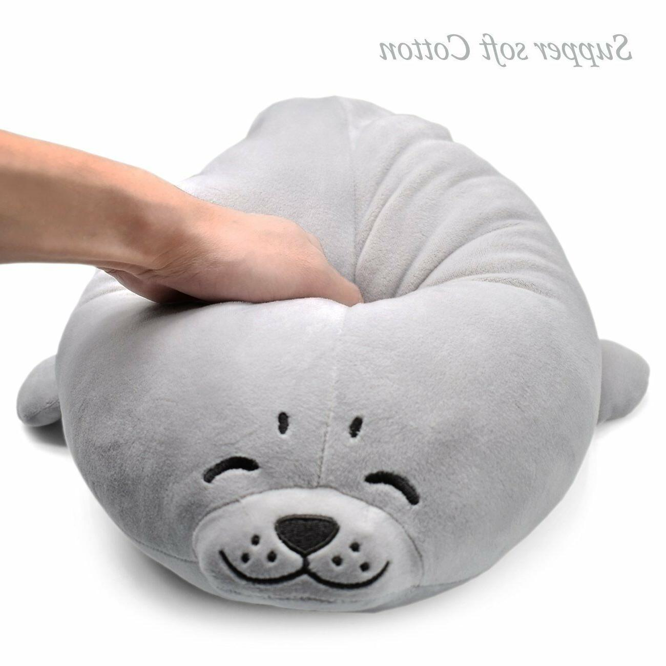 Stuffed Seal Plush Soft Giant Big Toy Kid Chair Chest Pets New