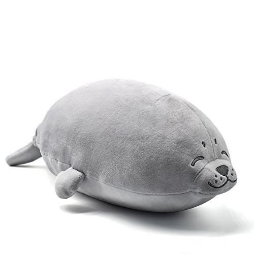 stuffed seal plush pillow toy