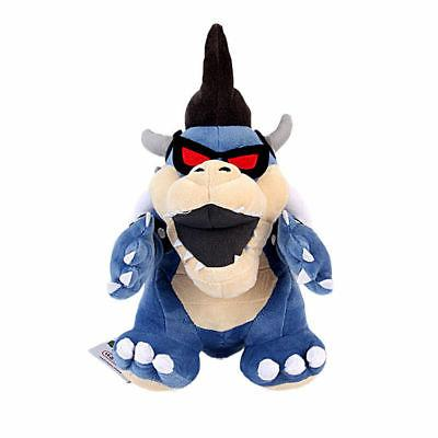 Super Mario Bros Dark Bowser Koopa Soft Plush Doll Stuffed F