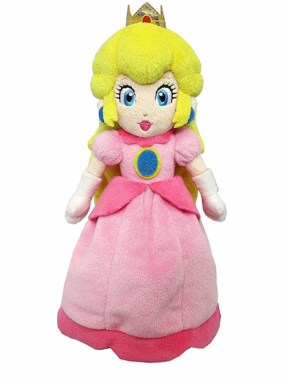 Super Mario Bros Mario Princess Peach Plush Doll Figure Soft