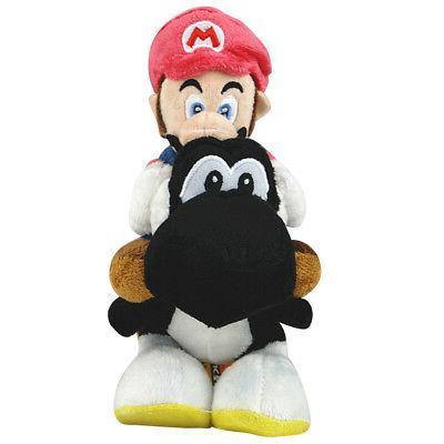 9inch Super Mario Plush Toy Mario Riding On Black Yoshi Stuf
