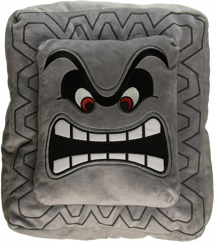 super mario thwomp cushion pillow