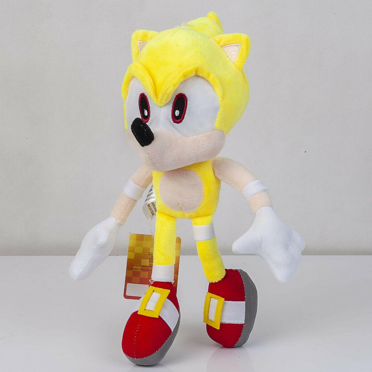 Super Sonic Plush Doll Stuffed Animal Plushie Soft Toy Gift 13 In