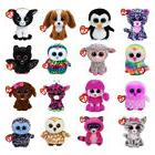 Ty Beanie Boos Plush Toy Doll Owl Panther Penguin Dog Giraff