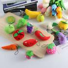 Vegetable & Fruit Key Chain Ornaments Cute Plush Toys Stress