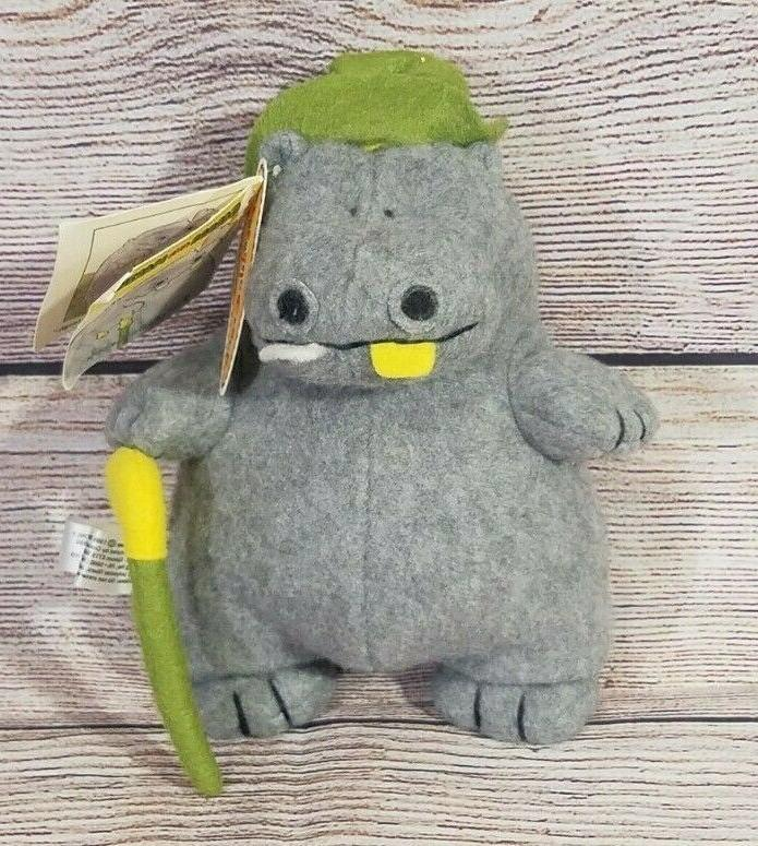 vintage george and martha series felt hippo