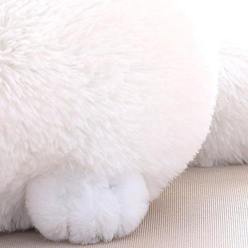 Winsterch Stuffed Plush Toys Animal Doll,White Cat Plush,11.8''