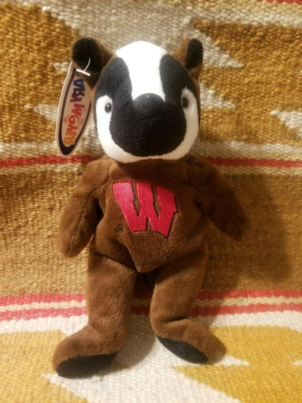 wisconsin bucky badger plush uw madison stuffed