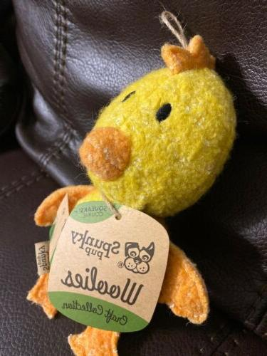 Spunky Woolies Collection Chicken Squeaky Dog Toy