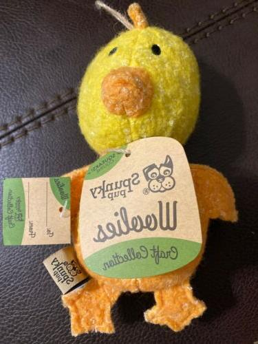 Spunky Pup Woolies Craft Collection Chicken Squeaky Dog Toy