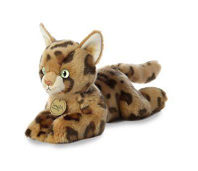 Aurora World Miyoni Cat Plush Toy Animal, Bengal Cat, 11""