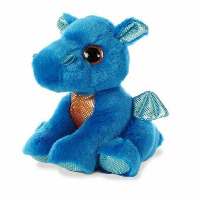 world plush sparkle tales rocket blue dragon