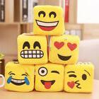 Yellow Emoji Dice Cube Home Window Suction Hanger Plush Stuf