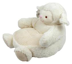 """Kelly Toy Lamb Plush Chair with Tan Seat 18"""" Interactive Toy"""