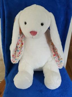 large bella bunny plush white new w