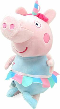 Large Peppa Pig Plush Unicorn Licensed Stuffed Animal Toy Gi