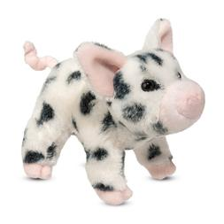 "Douglas Leroy BLACK SPOT PIG 7"" Plush Stuffed Farm Animal Sp"
