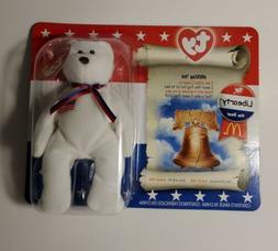 Libearty The Bear Beanie Babies plush toy new 2000 McDonalds