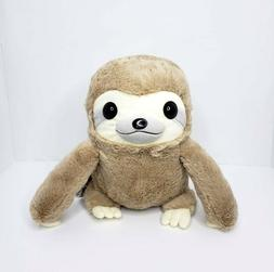 "Amuse light mocha brown sloth plush Round 1 12.5"" kawaii toy"