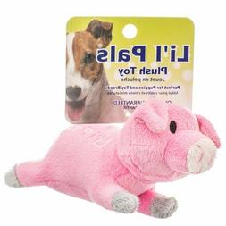 "LM Lil Pals Ultra Soft Plush Dog Toy - Pig 5.5"" Long"