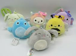 "Lot of 6 Easter 2020 Squishmallows Clip-On Mini Plush 3.5"" K"